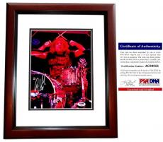 Steven Adler Signed - Autographed GUNS N ROSES DRUMMER 8x10 Concert inch Photo with PSA/DNA Certificate of Authenticity (COA) MAHOGANY CUSTOM FRAME