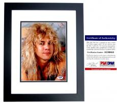 Steven Adler Signed - Autographed GUNS N ROSES DRUMMER 8x10 inch Photo with PSA/DNA Certificate of Authenticity (COA) BLACK CUSTOM FRAME
