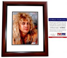 Steven Adler Signed - Autographed GUNS N ROSES DRUMMER 8x10 inch Photo with PSA/DNA Certificate of Authenticity (COA) MAHOGANY CUSTOM FRAME