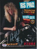 Steven Adler Vintage Gnr Signed Rs Pro Magazine Advertisement Psa/dna Authentic