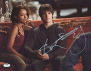 Steven R. McQueen & Kat Graham Vampire Diaries Signed 11X14 Photo PSA #Y99156