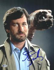 """Steven Spielberg Autographed 11"""" x 14"""" E.T. Photograph 2 - BAS COA"""