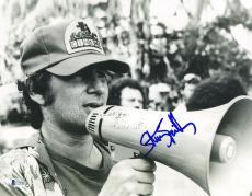 """Steven Spielberg Autographed 11"""" x 14"""" Megaphone Photograph - BAS COA"""