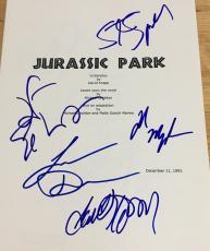 "Steven Spielberg & Cast Signed Autograph ""jurassic Park"" Full Movie Script X5"