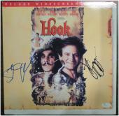 Steven Spielberg Dustin Hoffman Dual Hand Signed Autographed Hook Laser Disk JSA