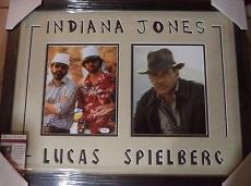 Steven Spielberg George Lucas Jsa Coa Dual Signed 8x10 Photo Matted Framed Rare