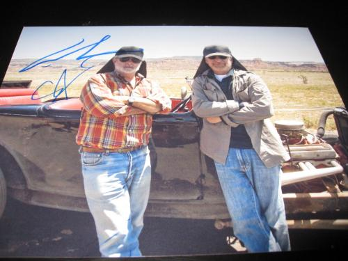STEVEN SPIELBERG GEORGE LUCAS SIGNED AUTOGRAPH 8x10 PHOTO INDIANA JONES PROMO E