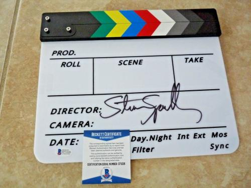 Steven Spielberg Hollywood Director Signed Autographed Clapboard BAS Certified