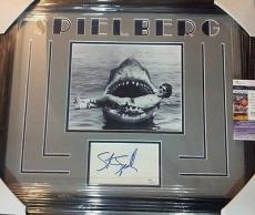 Steven Spielberg Jaws Movie Jsa Coa Signed B/w 8x10 Photo Double Matted Framed