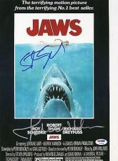 Steven Spielberg John Williams Signed 11x14 JAWS Photo PSA DNA COA LOA Autograph