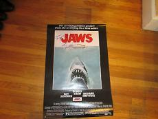 Steven Spielberg John Williams Signed 24x36 JAWS Poster PSA DNA COA LOA