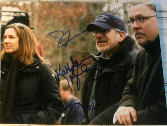 Steven Spielberg & Kathleen Kennedy & Kaminski Signed Autograph On Set Photo Coa