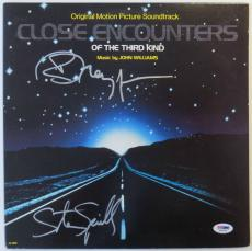 Steven Spielberg & Richard Dreyfuss Signed Vinyl Record Album (PSA/DNA) #S96933