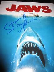 STEVEN SPIELBERG SIGNED AUTOGRAPH 11x14 JAWS POSTER PHOTO RARE IN PERSON COA M