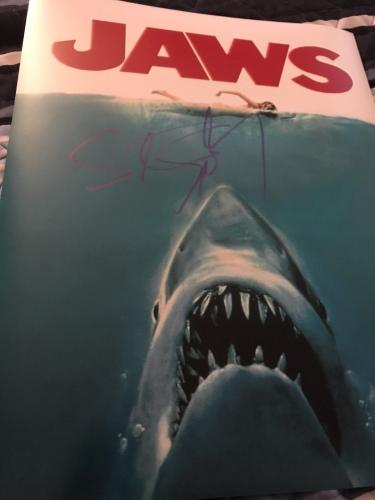 STEVEN SPIELBERG SIGNED AUTOGRAPH 11x14 PHOTO JAWS POSTER PHOTO IN PERSON COA Z3