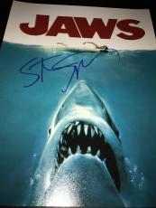 STEVEN SPIELBERG SIGNED AUTOGRAPH 11x14 POSTER PHOTO JAWS IN PERSON COA AUTO X2