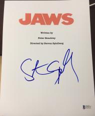 "Steven Spielberg Signed Autograph Full Rare ""jaws"" Movie Script Bas Beckett Coa"