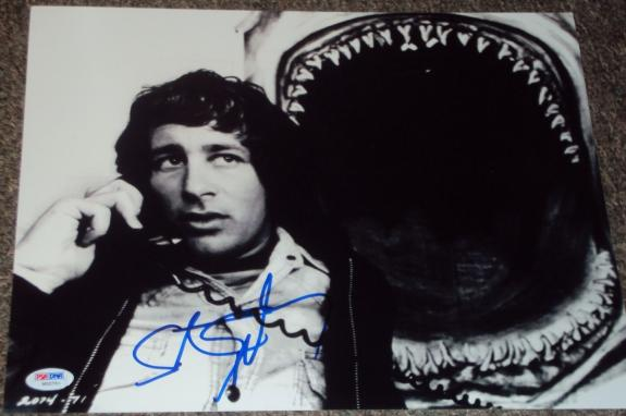 "Steven Spielberg Signed Autograph ""jaws"" Rare Promo 11x14 Photo Psa/dna W55701"