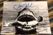 STEVEN SPIELBERG SIGNED AUTOGRAPH RARE JAWS IN SHARK MOUTH 11x14 PHOTO BECKETT