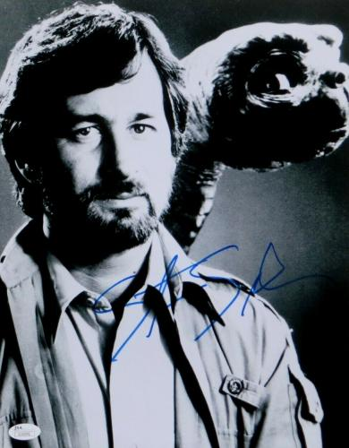Steven Spielberg Signed Autographed 11X14 Photo E.T. Director B/W JSA U16542