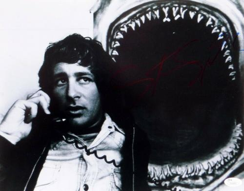 Steven Spielberg Signed Autographed 11X14 Photo Jaws Director w/Phone JSA U16543