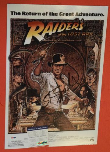 Steven Spielberg Signed Autographed 12x18 Poster Indiana Jones Proof PSA/DNA COA