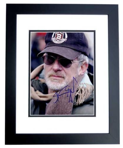 Steven Spielberg Signed - Autographed Director 11x14 inch Photo BLACK CUSTOM FRAME - Guaranteed to pass PSA or JSA - Jaws, ET, Indiana Jones, Schindler's List, Jurassic Park