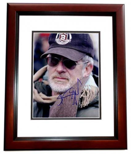 Steven Spielberg Signed - Autographed Director 11x14 inch Photo MAHOGANY CUSTOM FRAME - Guaranteed to pass PSA or JSA - Jaws, ET, Indiana Jones, Schindler's List, Jurassic Park