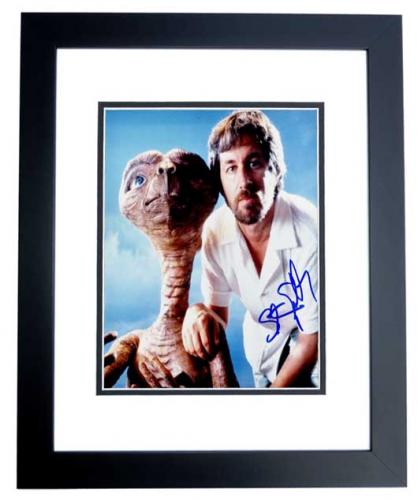 Steven Spielberg Signed - Autographed E.T. Director 8x10 inch Photo BLACK CUSTOM FRAME - Guaranteed to pass PSA or JSA - Jaws, ET, Indiana Jones, Schindler's List, Jurassic Park
