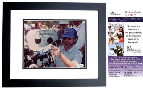 Steven Spielberg Signed - Autographed Indiana Jones Director 8x10 inch Photo BLACK CUSTOM FRAME - JSA Certificate of Authenticity