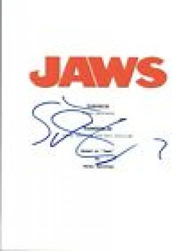 Steven Spielberg Signed Autographed JAWS Full Movie Script COA VD