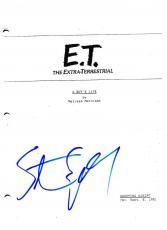 Steven Spielberg Signed Et Script Full Script 115 Page E.t. Authentic Autograph