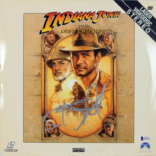 Steven Spielberg Signed Indiana Jones Laserdisc Cover BAS #D43215