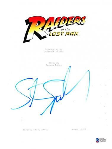 Steven Spielberg Signed Indiana Jones Raiders Of The Lost Ark Autograph Beckett