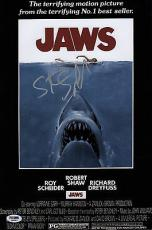 Steven Spielberg Signed Jaws 10x15 Movie Poster Psa Coa Q60587