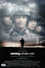Steven Spielberg Signed Saving Private Ryan 10x15 Movie Poster Psa Coa Q60585
