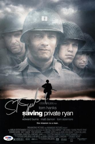 Steven Spielberg Signed Saving Private Ryan 10x15 Movie Poster Psa Coa Q60586