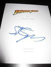 STEVEN SPIELBERG SIGNED SCRIPT INDIANA JONES FULL SCRIPT IN PERSON COA AUtO D