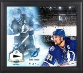 Steven Stamkos Tampa Bay Lightning Framed 15'' x 17'' Mosaic Collage with Piece Of Game-Used Puck-Limited Edition of 99