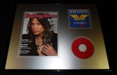 Steven Tyler 16x20 Framed 2011 Rolling Stone Cover & Aerosmith CD Set