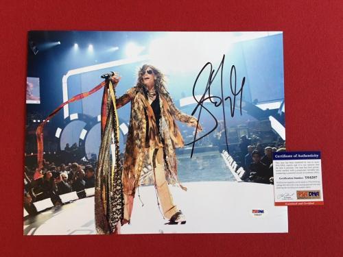 "Steven Tyler (AEROSMITH), ""Autograpehed"" 11x14 Color Photo (PSA / DNA)"