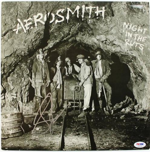 Steven Tyler Aerosmith Night In The Ruts Signed Album Cover W/ Vinyl PSA #S59184