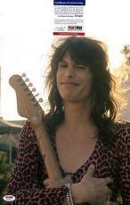 Steven Tyler Aerosmith Signed 11x14 Photo PSA DNA COA Autograph Young