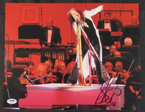 Steven Tyler Aerosmith Signed Auto Autograph 11x14 Photo PSA/DNA AC83721