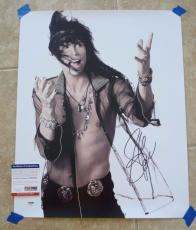 Steven Tyler Aerosmith Signed Autographed 16x20 Photo PSA Certified #2
