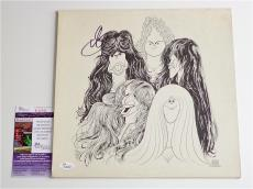 Steven Tyler Aerosmith Signed Draw The Line Record Album Jsa Coa K42292
