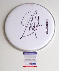 Steven Tyler Aerosmith Signed Drumhead Psa Coa V28859