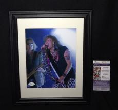 Steven Tyler Aerosmith Signed Framed & Matted 8x10 Photo JSA COA Rare Full Auto