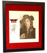 Steven Tyler Aerosmith Signed Framed & Matted Custom Hand Drawn Sketch Jsa Loa