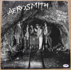 Steven Tyler Aerosmith signed LP Album Cover Night in the Ruts PSA/DNA